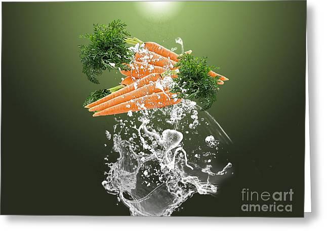 Carrot Splash Greeting Card