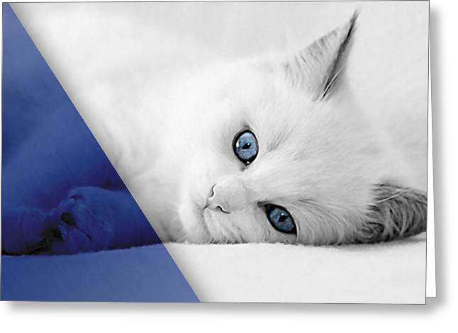 Cat Collection Greeting Card by Marvin Blaine