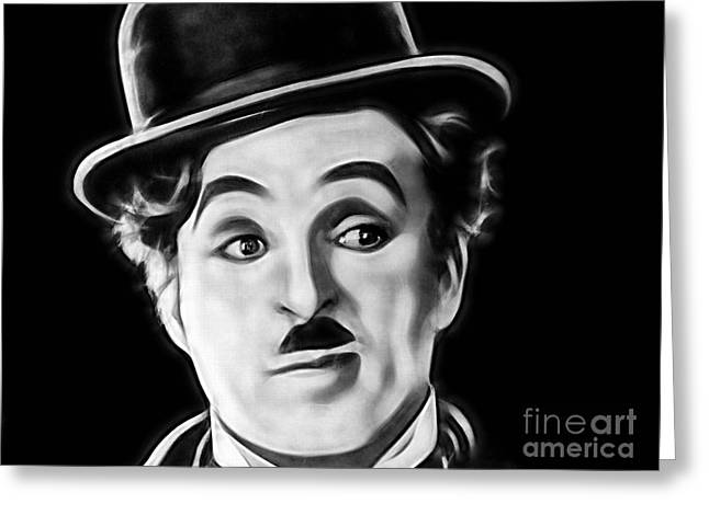Charlie Chaplin Collection Greeting Card by Marvin Blaine