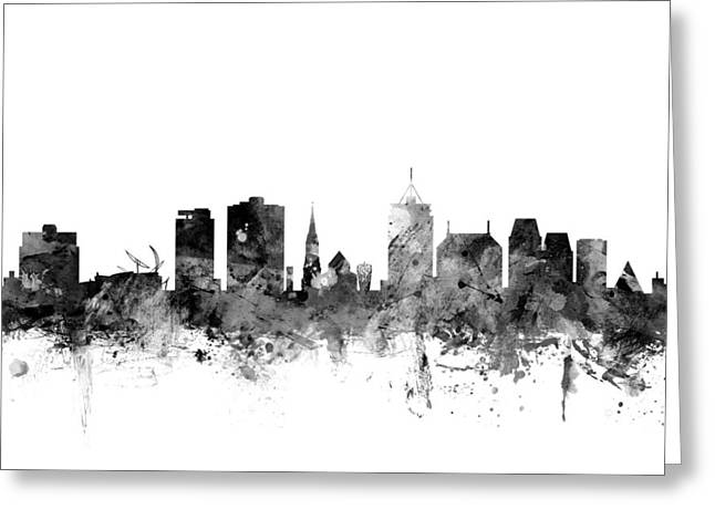 Christchurch New Zealand Skyline Greeting Card by Michael Tompsett