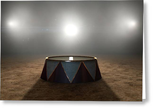 Circus Ring And Podium  Greeting Card by Allan Swart