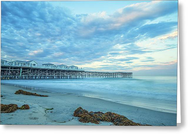 Cloud Cover Over Crystal Pier Greeting Card