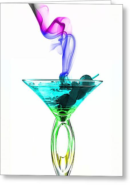 Cocktails Collection Greeting Card by Marvin Blaine