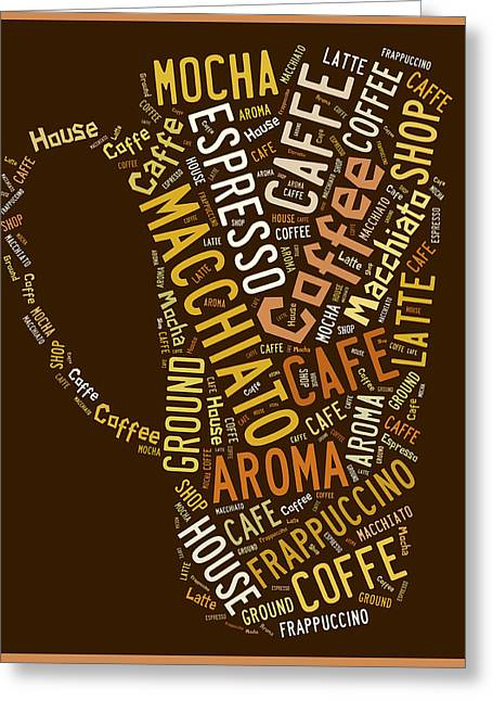 Coffee Menu Collection Greeting Card by Marvin Blaine