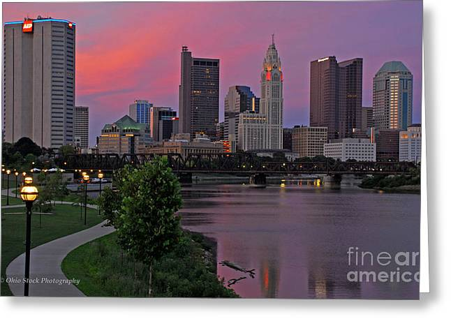 D2l37 Columbus Ohio Skyline Photo Greeting Card