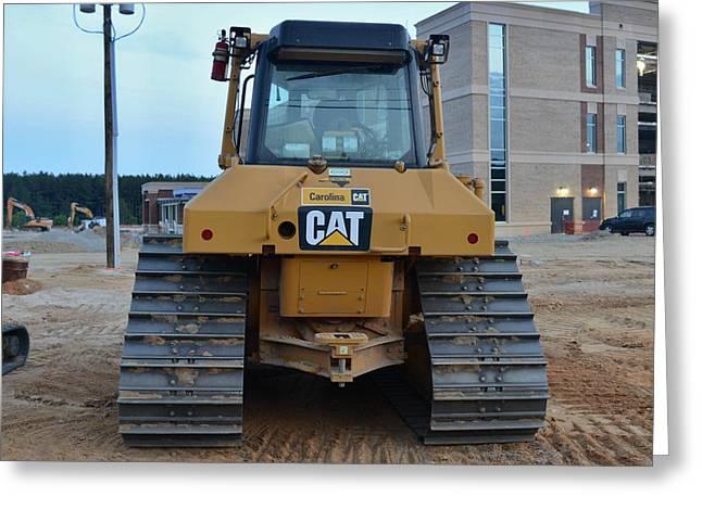 4 - Caterpiller Bulldozer - Cat - Construction Equipment Series Greeting Card