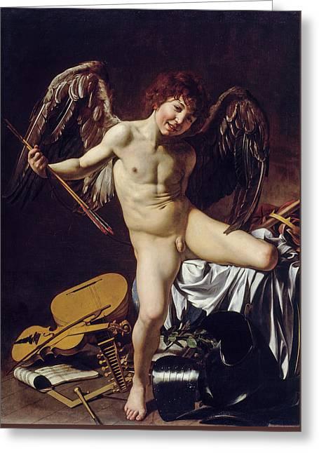 Cupid As Victor Greeting Card
