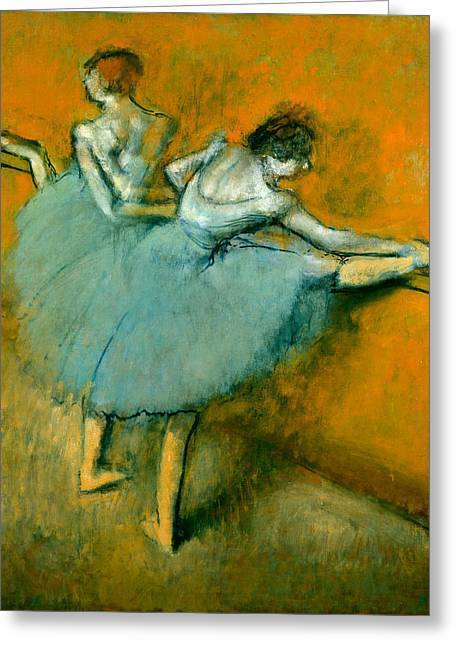 Dancers At The Bar Greeting Card by Edgar Degas