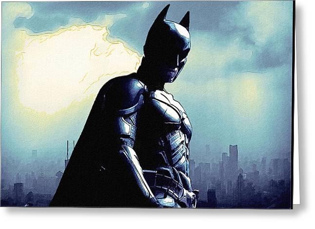Dark Batman Poster Greeting Card