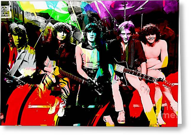 Def Leppard Greeting Card by Marvin Blaine