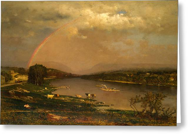 Delaware Water Gap Greeting Card by George Inness