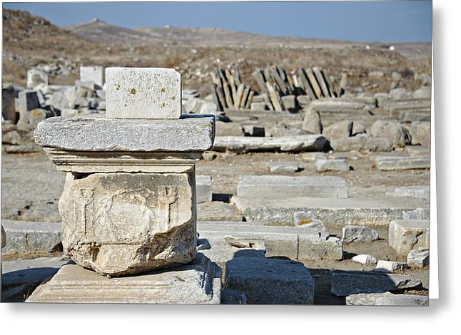 Delos Greece Greeting Card by Cendrine Marrouat
