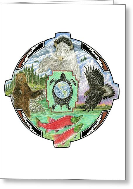 4 Directions Mandala Greeting Card by Tim McCarthy
