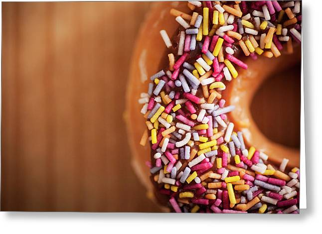 Donut And Sprinkles Greeting Card