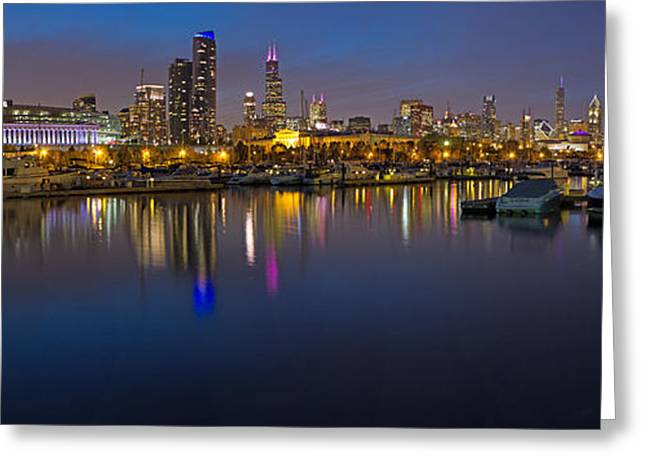 Downtown Chicago From Burnham Harbor Greeting Card