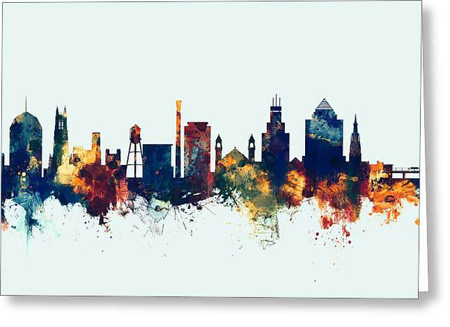 Durham North Carolina Skyline Greeting Card