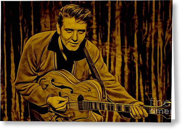 Eddie Cochran Collection Greeting Card by Marvin Blaine