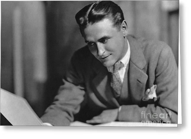 F. Scott Fitzgerald Greeting Card by Granger