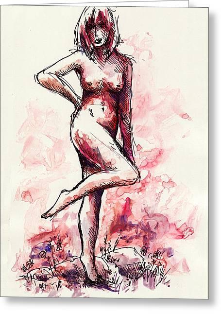 Figure Study Greeting Card by Rachel Christine Nowicki