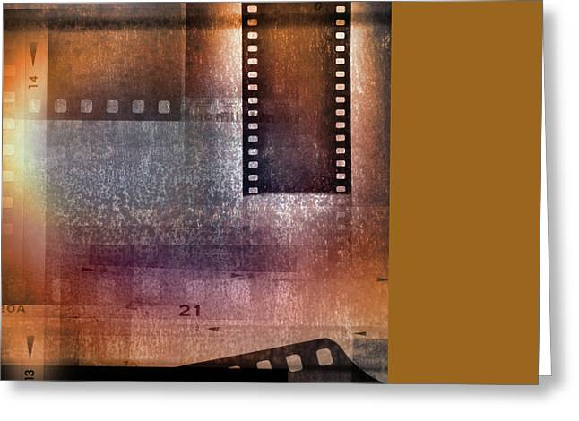 Film Strips Greeting Card by Les Cunliffe