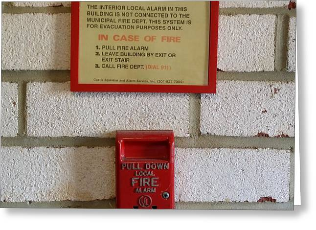Fire Alarm Pull Station Greeting Card