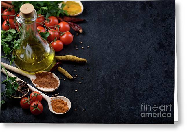 Food Ingredients Greeting Card by Jelena Jovanovic