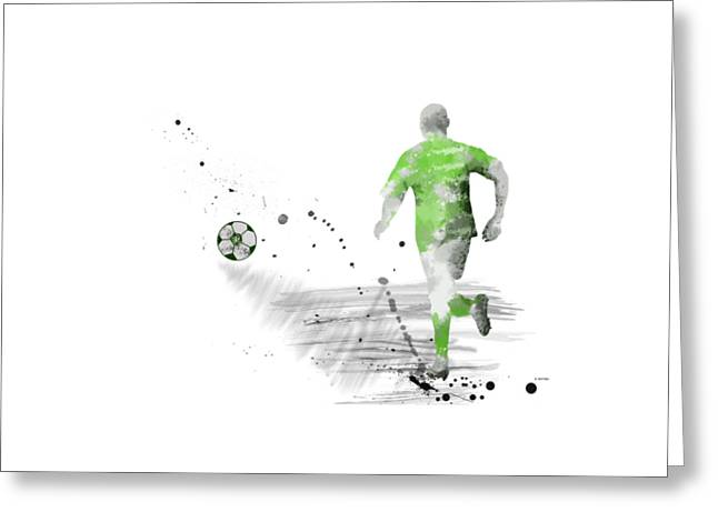Football Player Greeting Card