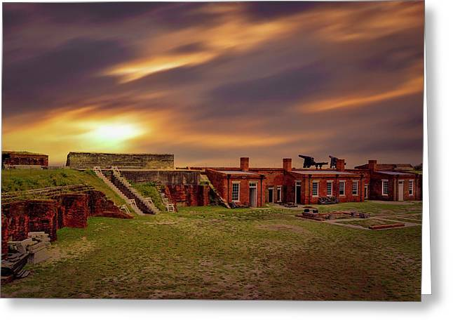 Greeting Card featuring the photograph Fort Clinch by Peter Lakomy