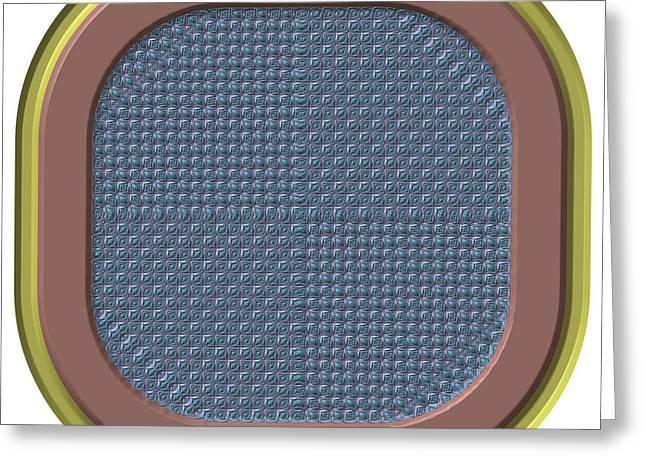Frame Button Generated Texture Greeting Card by Miroslav Nemecek