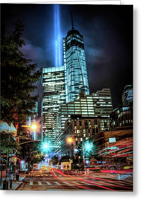 Greeting Card featuring the photograph Freedom Tower by Theodore Jones