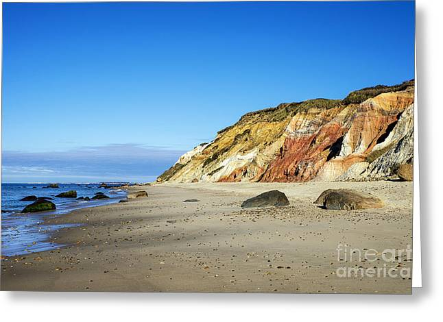 Gay Head Cliffs Greeting Card