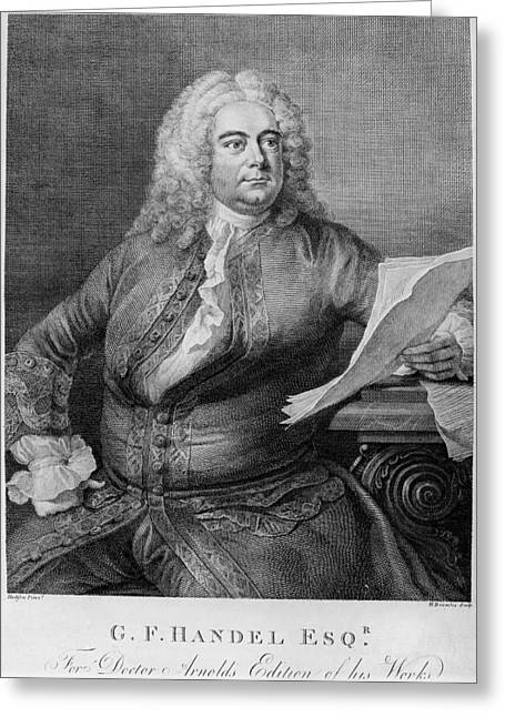 18th Century Greeting Cards - George Frederick Handel Greeting Card by Granger