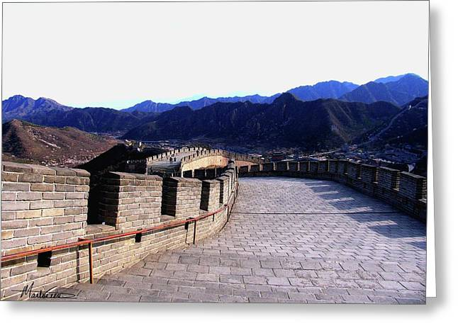 Greeting Card featuring the photograph Great Wall by Marti Green