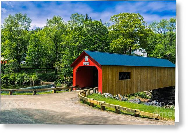 Green River Covered Bridge. Greeting Card