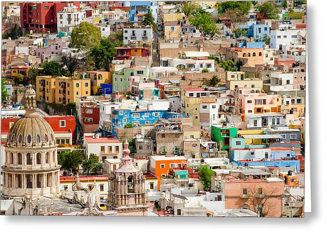 Greeting Card featuring the photograph Guanajuato, Mexico. by Rob Huntley