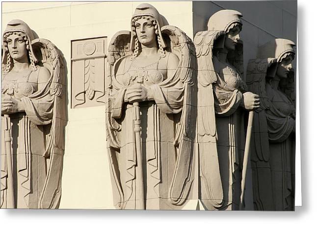 4 Guardian Angels Greeting Card