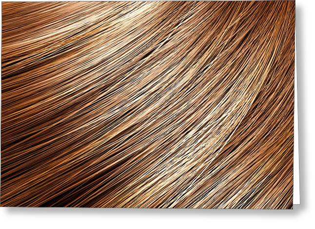 Hair Blowing Closeup Greeting Card