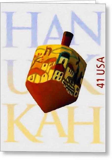 Hanukkah Greeting Card by Lanjee Chee