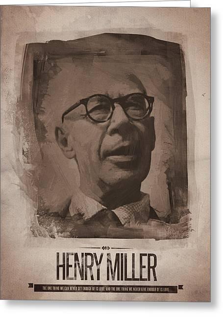 Henry Miller 02 Greeting Card