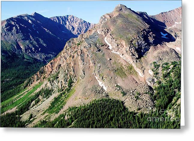 Hiking The Mount Massive Summit Greeting Card