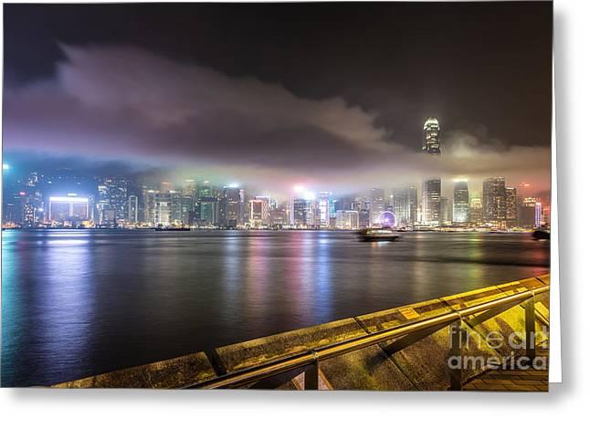 Hong Kong Stunning Skyline Greeting Card