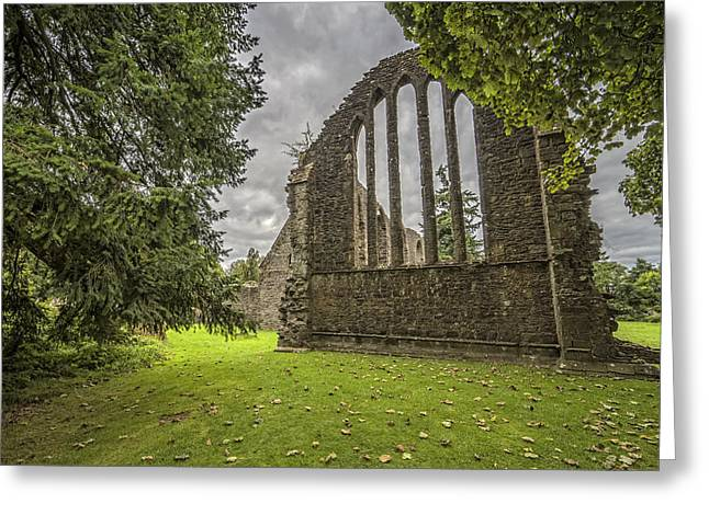 Inchmahome Priory Greeting Card by Jeremy Lavender Photography