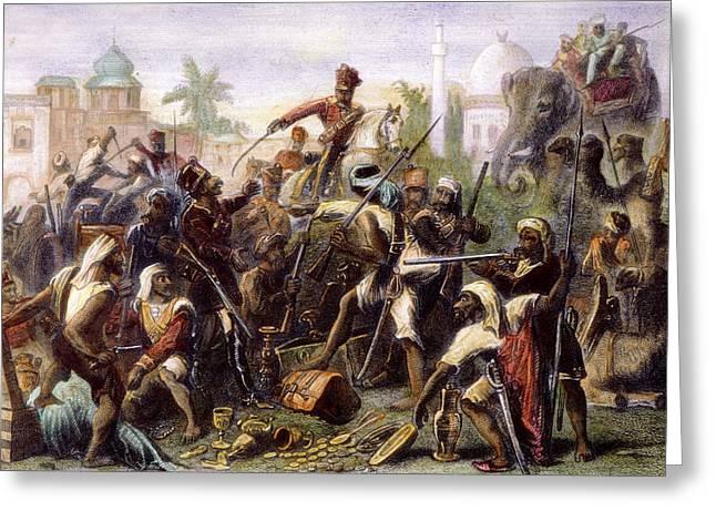 India: Sepoy Mutiny, 1857 Greeting Card by Granger