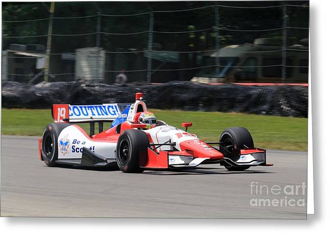 Indycar Racing Greeting Card by Douglas Sacha