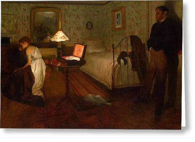Interior Greeting Card by Edgar Degas