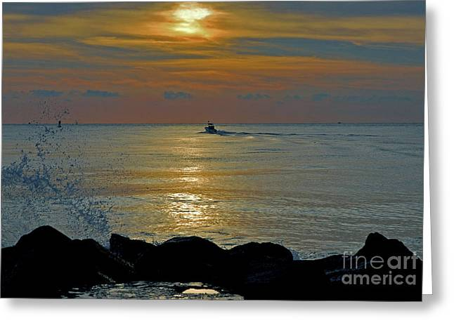 Greeting Card featuring the photograph 4- Into The Day by Joseph Keane