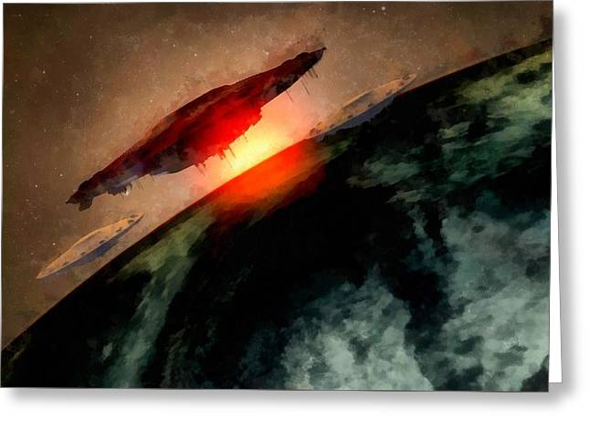 Invasion Earth Greeting Card by Raphael Terra