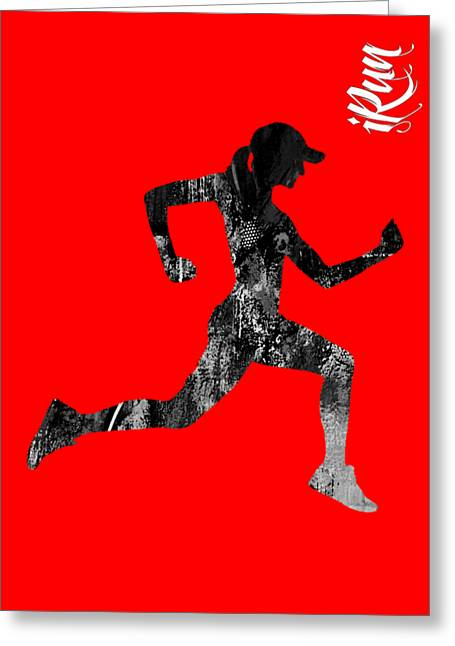 iRun Fitness Collection Greeting Card