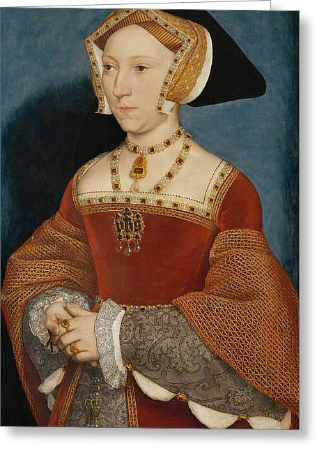 Jane Seymour Queen Of England Greeting Card by Hans Holbein the Younger
