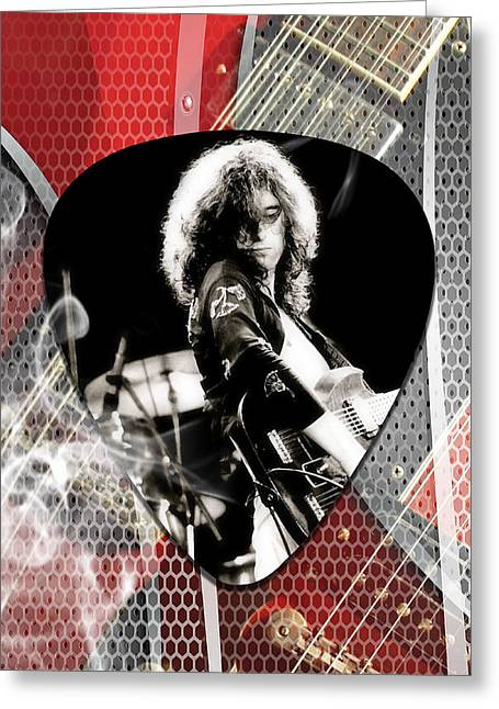 Jimmy Page Art Greeting Card by Marvin Blaine